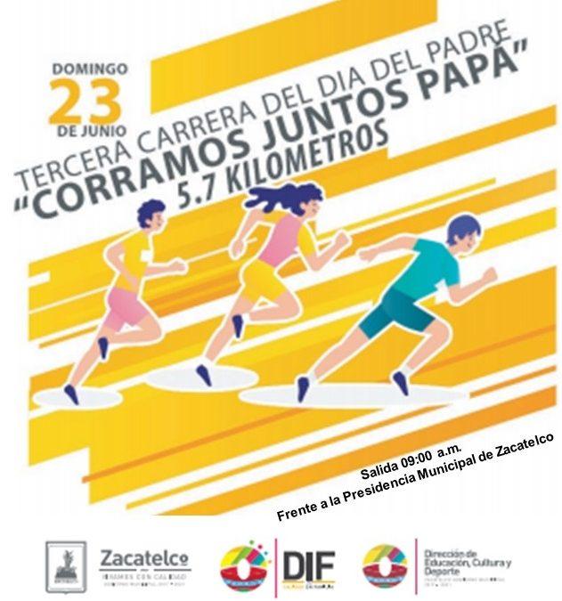 Para seguir festejando a papá, lista carrera municipal para este domingo en Zacatelco