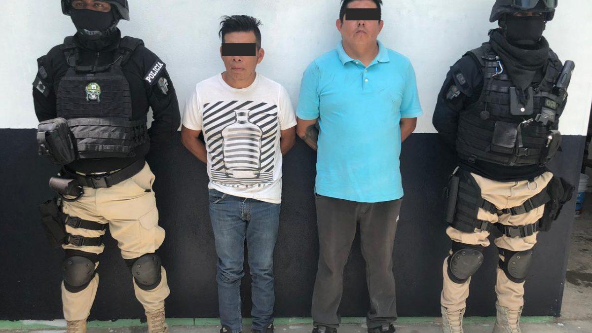 Detienen a integrantes de banda de robo de autopartes en Zacatelco; lo persiguen hasta Zacualpan