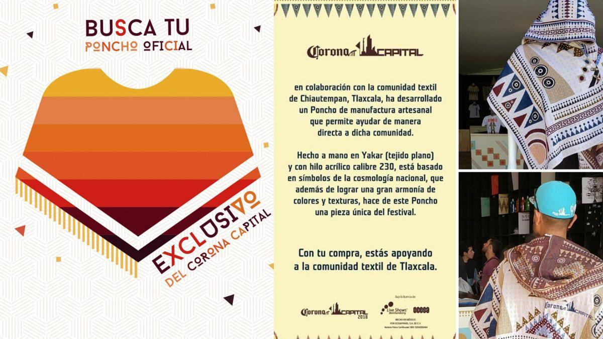 """Los """"ponchos"""" de Tlaxcala cobijarán el Corona Capital 2019; aquí 6 datos de esta tradicional prenda"""