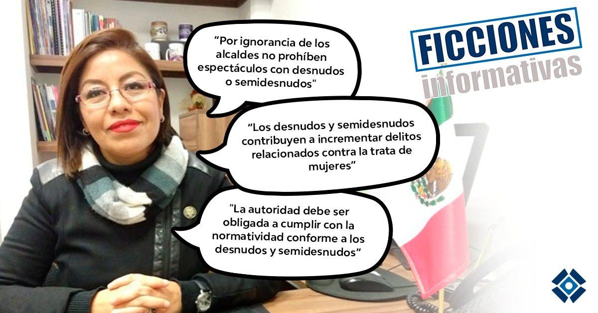 ¿Desnudos y semidesnudos violan la ley? Algunas ficciones en los dichos de Leticia Hernández