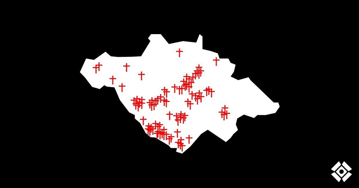 Actualización de cruces. Asesinatos desde el 15 de junio