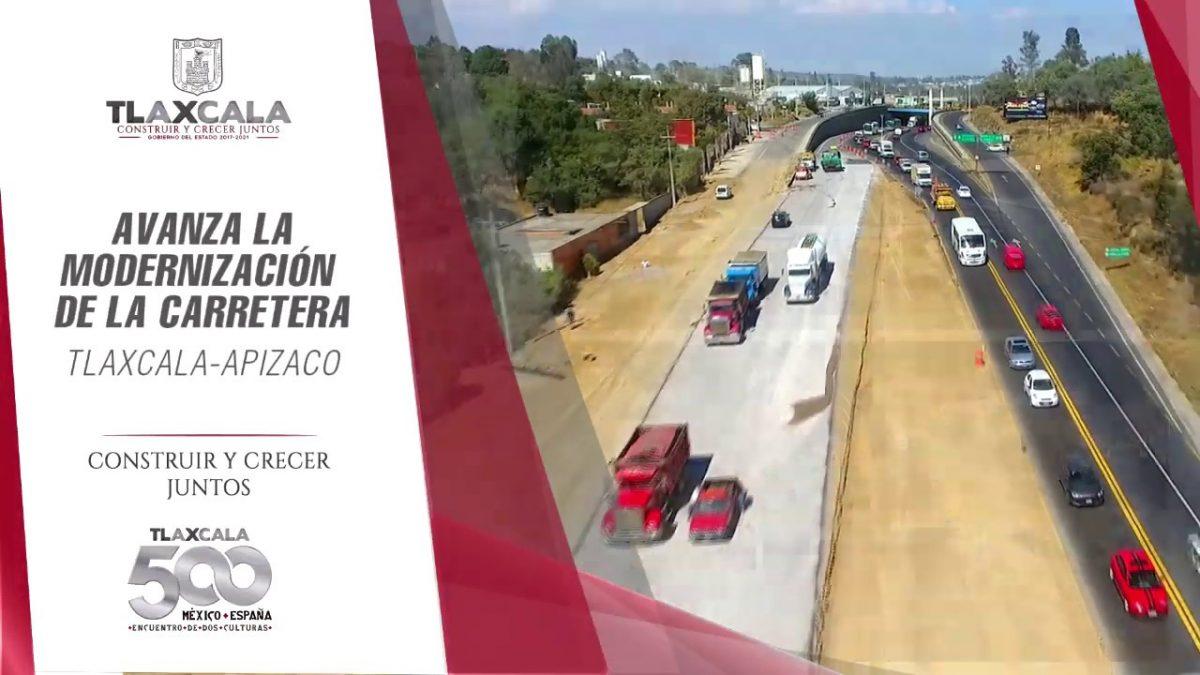 Lesiones y daños materiales, saldos de la (aún no inaugurada) carretera Apizaco-Tlaxcala