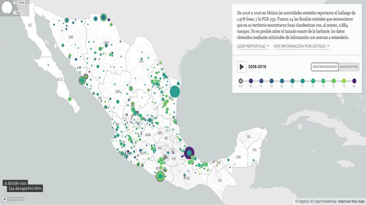 Figura Tlaxcala entre estados con fosas clandestinas: adondevanlosdesaparecidos.org
