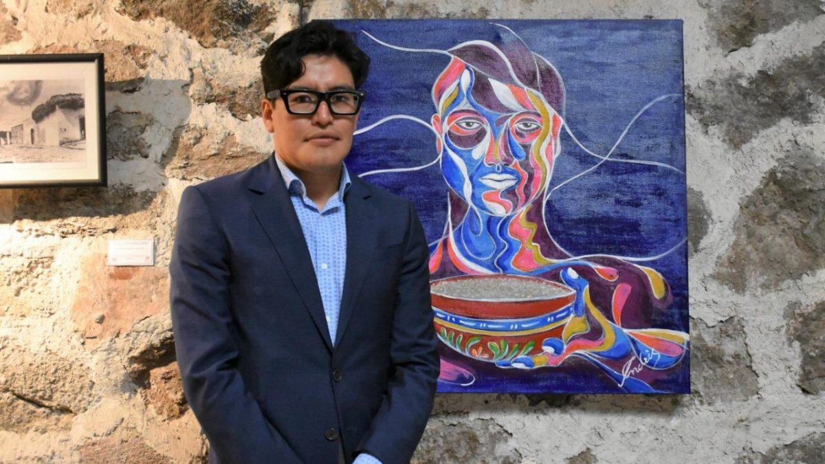 Conoce la obra que donó Andrés Caballero a la galería Domingo Arenas en Zacatelco
