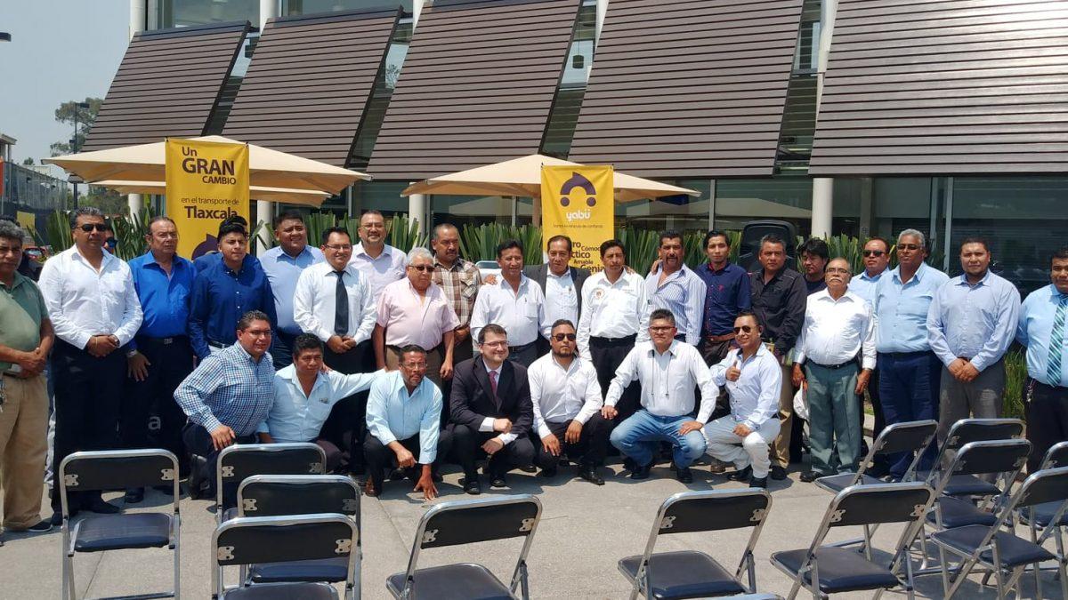 Ya opera Yabü en Tlaxcala con respaldo de líderes transportistas