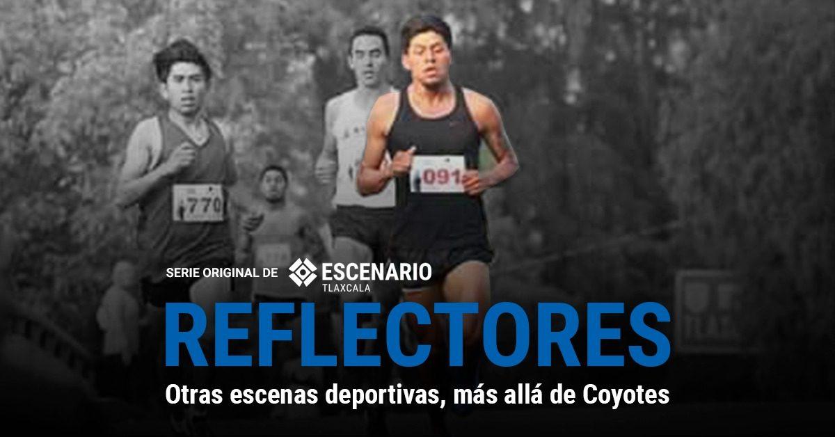 El que mucho corre, pronto alcanza. Cristian Mexicano, maratonista tlaxcalteca