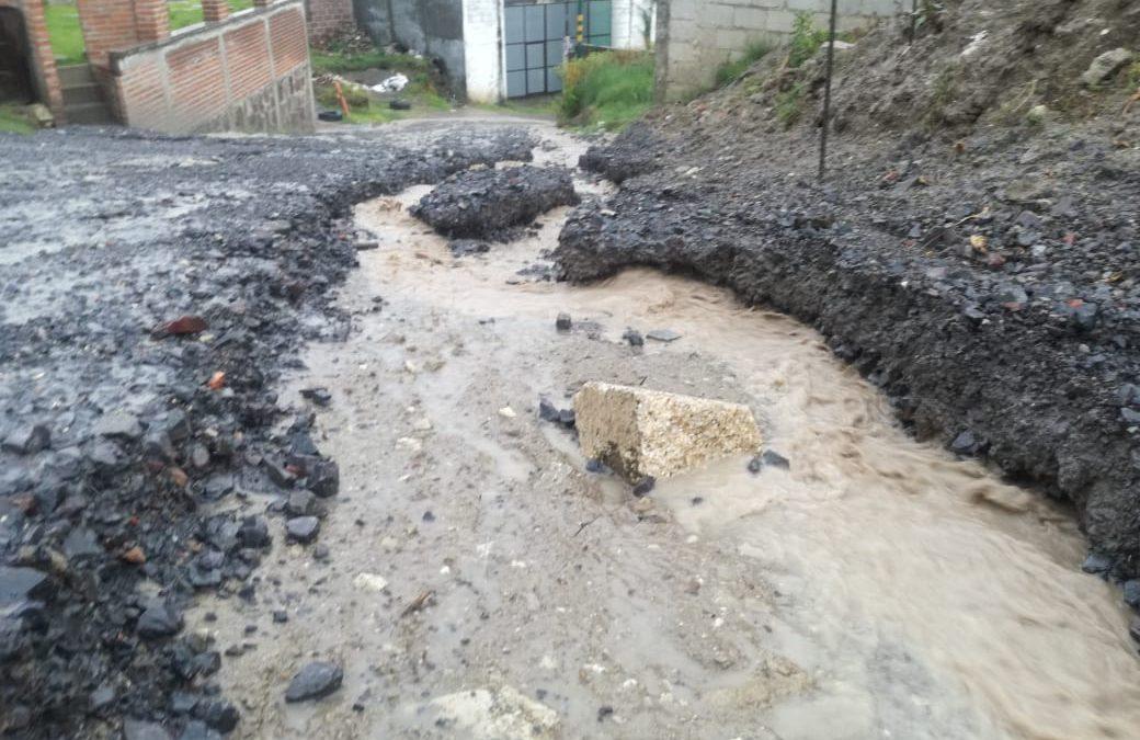 Construcción del alcalde de Totolac deja inundadas a más de 70 familias