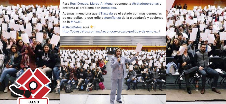 Rosi Orozco desinforma