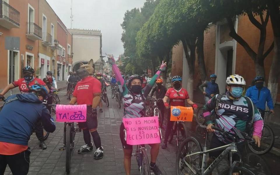 Ciclistas-ciclovía-Tlaxcala-Santa Ana Chiautempan-San Francisco