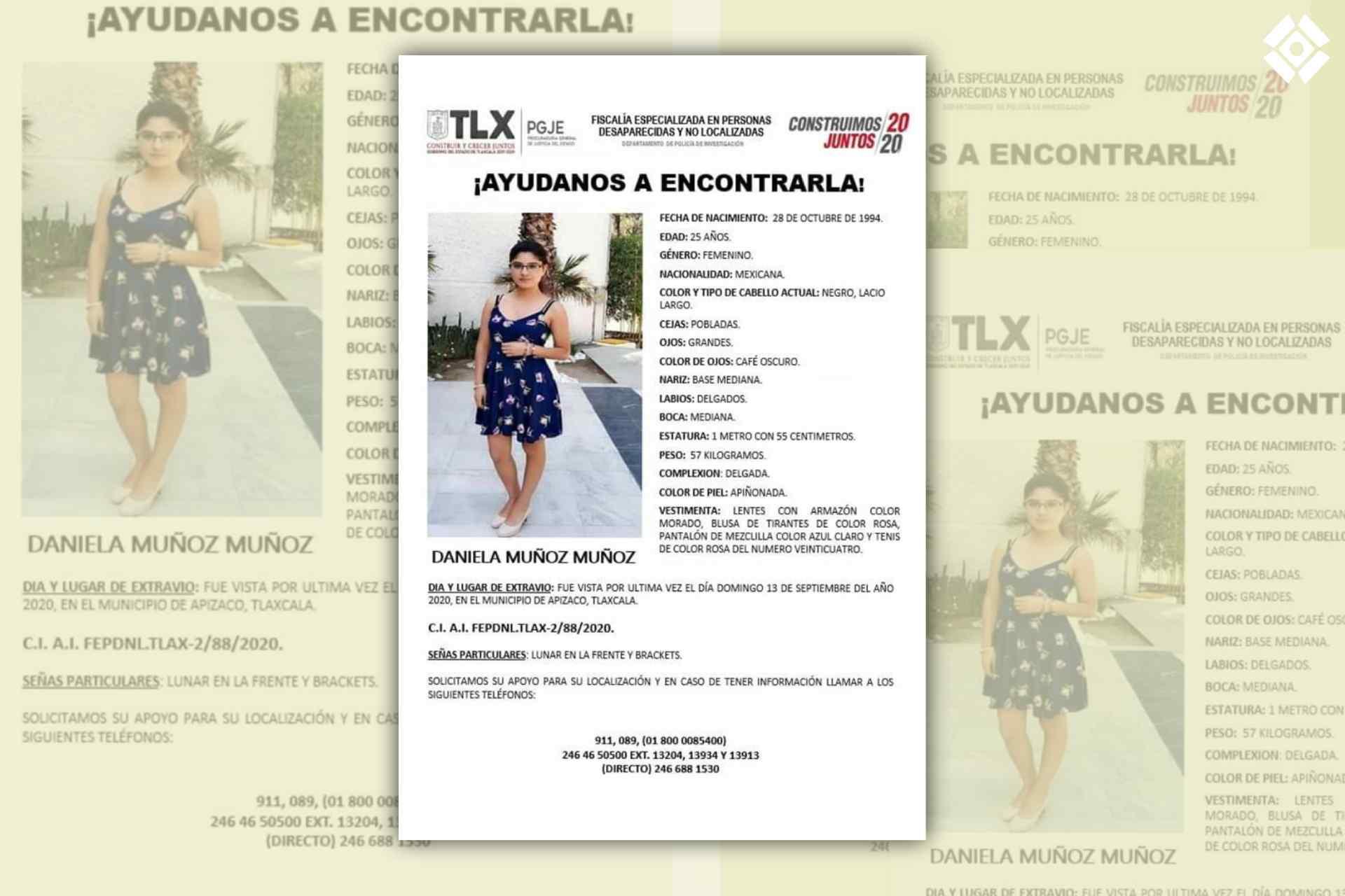 Daniela-Muñuz-Personas desaparecida-Tlaxcala-Apizaco