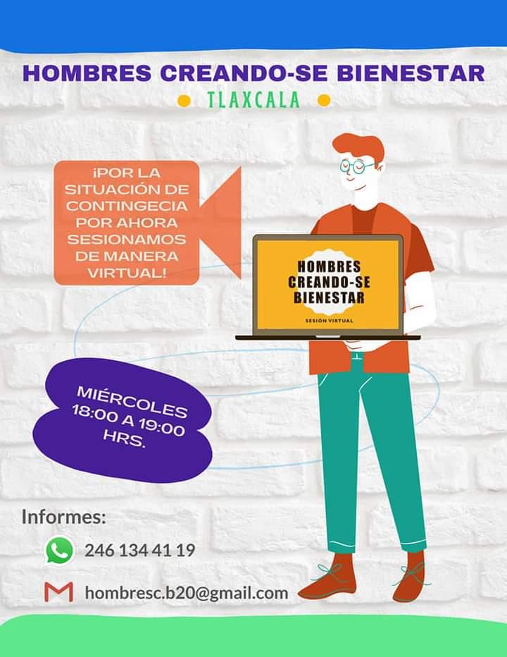 hombres-Masculinidades-Tlaxcala-Hombre creándose bienestar