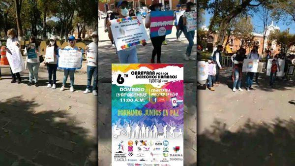 Derechos Humanos-Jóvenes Tlaxcala-Marcha-Covid-19-Coronavirus