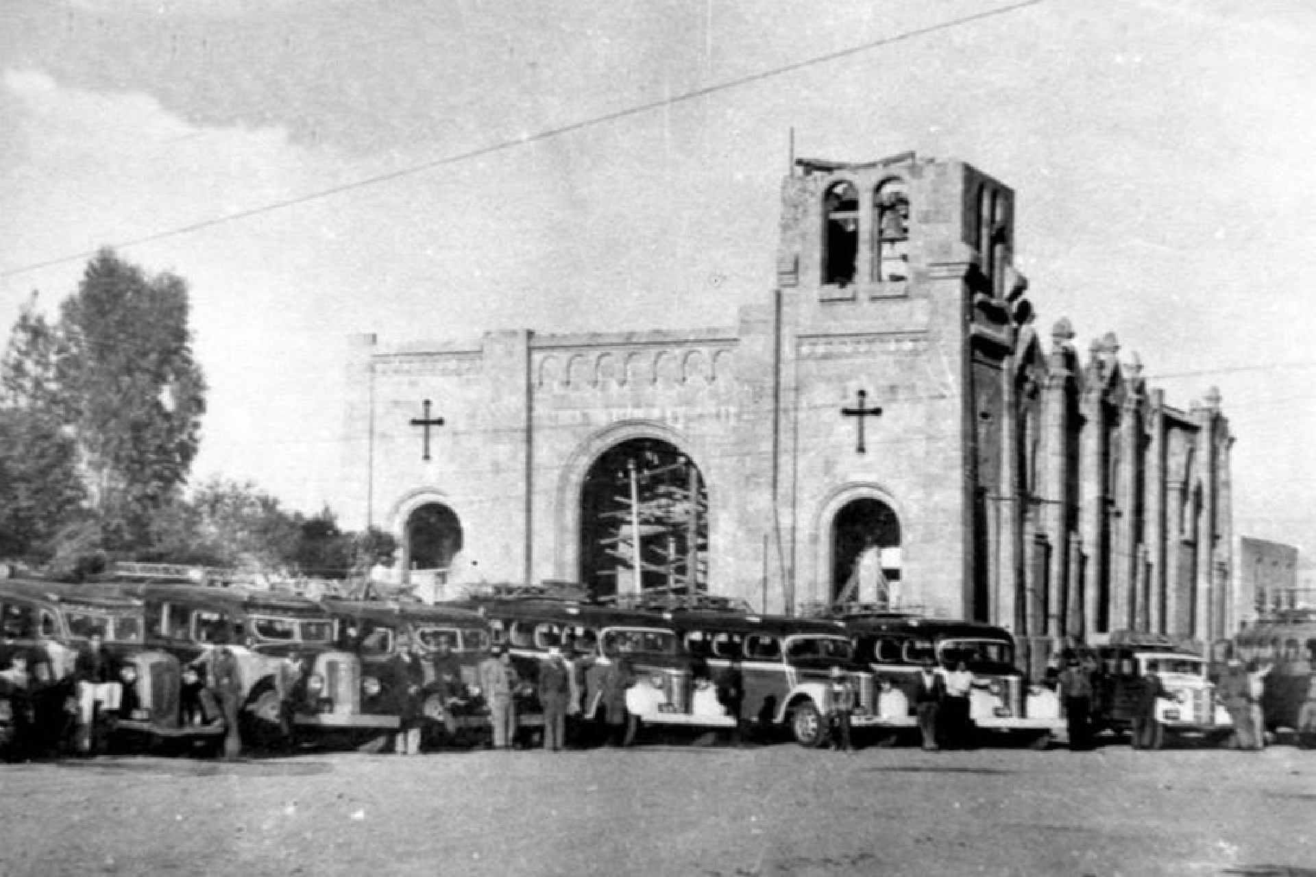 Apizaco-Basílica de la Misericordia-Historia-Fotografía antigua-Revolución Mexicana-Tlaxcala