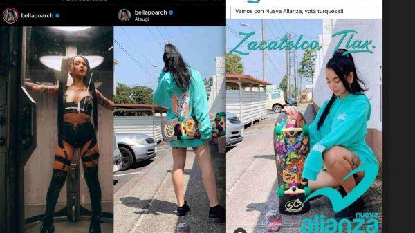 TiKtoker-Bella Poarch-Nueva Alianza Tlaxcala-Zacatelco-Elecciones 2021-uso de imagen