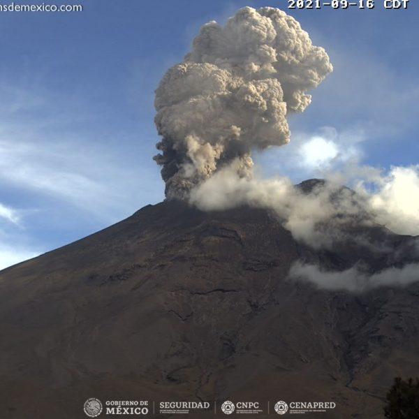 Popocatépetl-Activad-Volcanica
