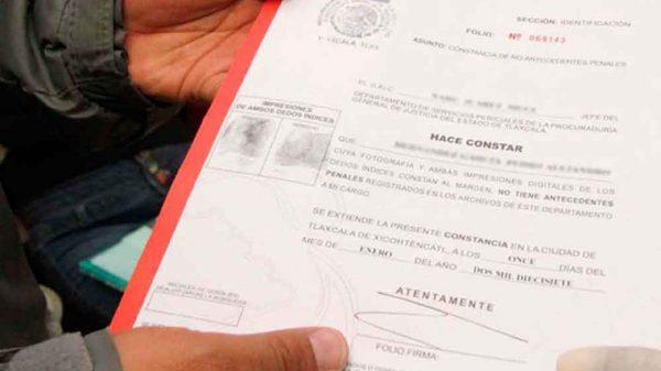 Acta de no antecedentes penales-horario-requisitos